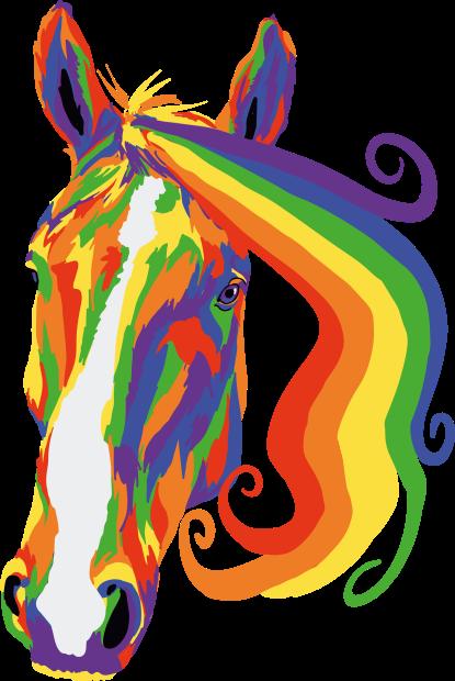 Suffolk Punch illustration for Suffolk Pride 2019. Procreate, 2019.