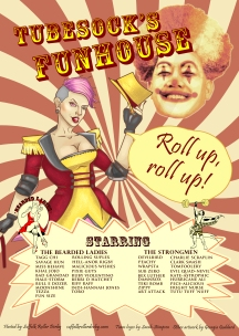 Poster/Programme combo for Suffolk Roller Derby.