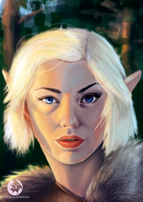 Wood Elf illustration, Photoshop CS5, 2018.