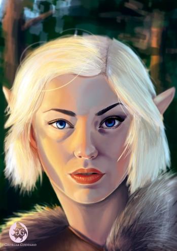 Wood Elf illustration, Photoshop CS5, 2018.