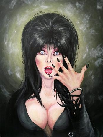 Portrait of Elvira, Acrylics, A2. 2015.