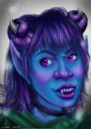 Portrait of the character Jester from Critical Role